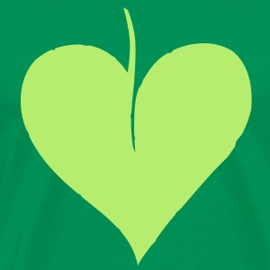 Leaf Heart T-Shirts - Men's Premium T-Shirt