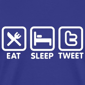 Eat sleep Tweet Tee shirts - T-shirt Premium Homme