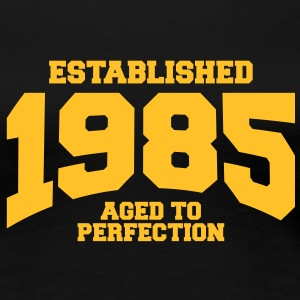 aged to perfection established 1985 (nl) T-shirts - Vrouwen Premium T-shirt