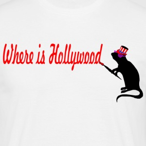where is hollywood T-Shirts - Männer T-Shirt