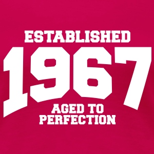 aged to perfection established 1967 (sv) T-shirts - Premium-T-shirt dam