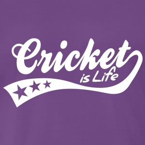 cricket is life - retro T-shirts - Premium-T-shirt herr