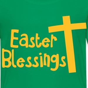 EASTER blessings with a tall cross Jesus Christ Shirts - Kids' Premium T-Shirt