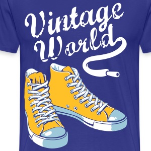 Royal blue Vintage sneakers T-Shirts - Men's Premium T-Shirt