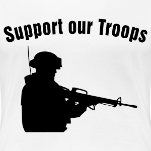 Support our Troops T-shirts - Premium-T-shirt dam