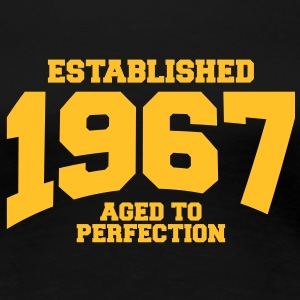 aged to perfection established 1967 (dk) T-shirts - Dame premium T-shirt