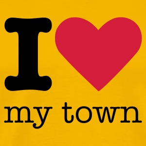 I Love My Town T-Shirts - Men's Premium T-Shirt
