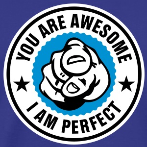 You are awesome - i am perfect T-Shirts - Herre premium T-shirt