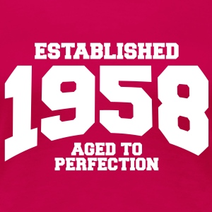 aged to perfection established 1958 (es) Camisetas - Camiseta premium mujer