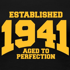 aged to perfection established 1941 (dk) T-shirts - Dame premium T-shirt