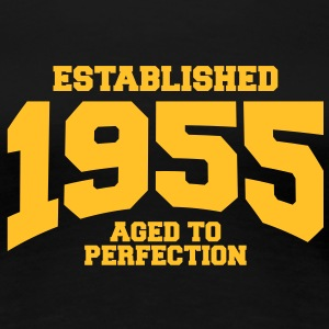 aged to perfection established 1955 (sv) T-shirts - Premium-T-shirt dam