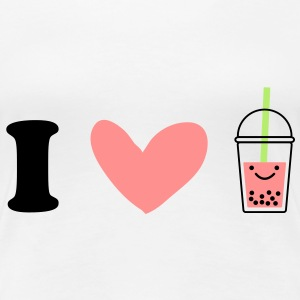 I Love Bubble Tea Tee shirts - T-shirt Premium Femme