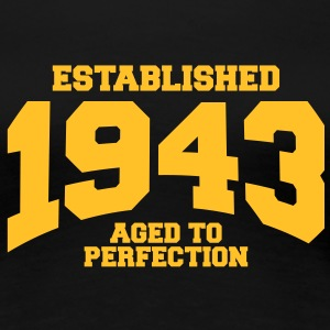 aged to perfection established 1943 (nl) T-shirts - Vrouwen Premium T-shirt