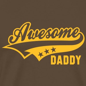 Awesome DADDY T-Shirt YB - Herre premium T-shirt