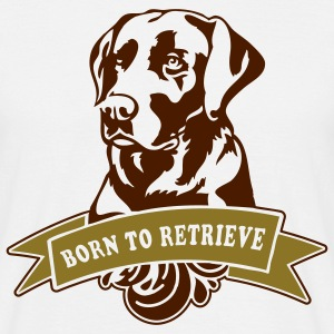 born to retrieve - Männer T-Shirt