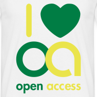 Motiv ~ I love Open Access T-Shirt (Mann)