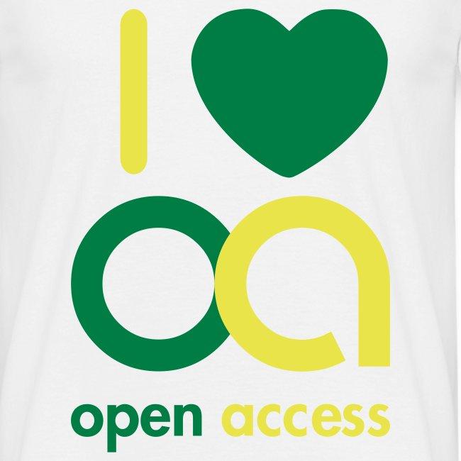 I love Open Access T-Shirt (Mann)