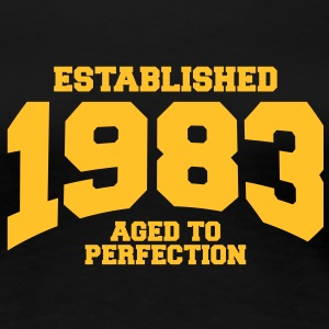 aged to perfection established 1983 (dk) T-shirts - Dame premium T-shirt