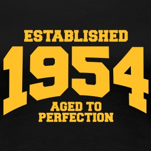 aged to perfection established 1954 (sv) T-shirts - Premium-T-shirt dam