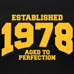 aged to perfection established 1978 (uk) T-Shirts - Women's Premium T-Shirt