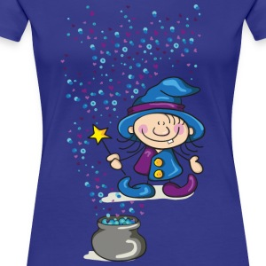 Little Witch with Hat and Wand T-Shirts - Women's Premium T-Shirt