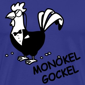 Monokel Gockel Cartoon T-Shirts - Männer Premium T-Shirt