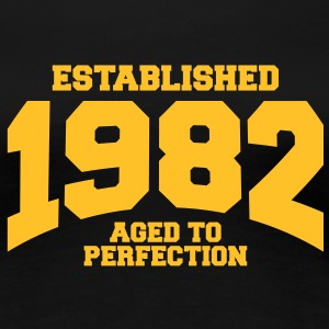 aged to perfection established 1982 (sv) T-shirts - Premium-T-shirt dam