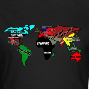 Weltkarte Drugs on Earth  T-Shirts - Frauen T-Shirt