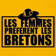 Motif ~ Tee shirt Les femmes préfèrent les Bretons