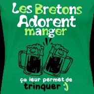 Motif ~ Tee shirt femme les bretons adorent manger