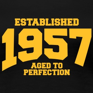 aged to perfection established 1957 (dk) T-shirts - Dame premium T-shirt
