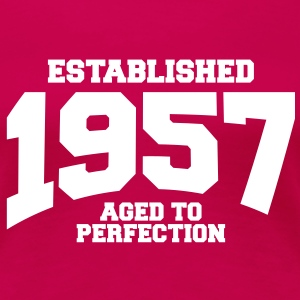 aged to perfection established 1957 (sv) T-shirts - Premium-T-shirt dam