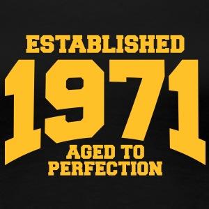aged to perfection established 1971 (nl) T-shirts - Vrouwen Premium T-shirt