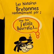 Motif ~ Tshirt humour breton les histoires bretonne commencent par