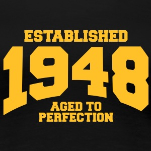 aged to perfection established 1948 (sv) T-shirts - Premium-T-shirt dam