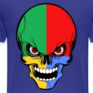four colors skull Tee shirts - T-shirt Premium Homme