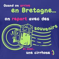 Motif ~ Tee shirt c2b souvenirs breton Femme