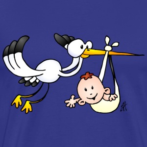 The stork brings the baby. T-Shirts - Men's Premium T-Shirt