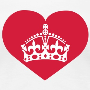 i love queen mom | crown | heart T-Shirts - Maglietta Premium da donna