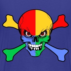 four colors skull and bones Tee shirts - T-shirt Premium Homme