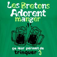 Motif ~ Tee shirt femme les bretons adorent manger Homme