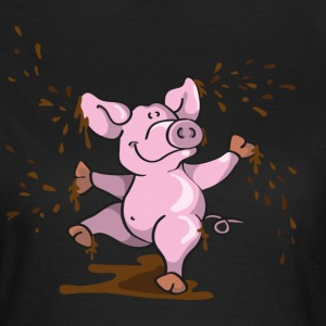 Happy pig in the mud T-Shirts - Women's T-Shirt