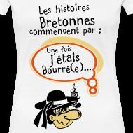 Motif ~ Tshirt femme humour breton les histoires bretonne commencent par