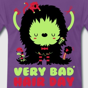 Paars Very bad hair day T-shirts - Mannen Premium T-shirt