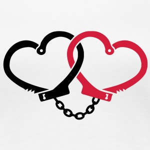 love handcuffs T-Shirts - Women's Premium T-Shirt