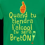 Motif ~ Tee shirt quand tu tiendra l'alcool tu sera Bretons
