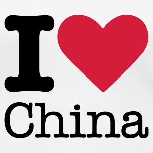 I Love China Tee shirts - T-shirt Premium Femme