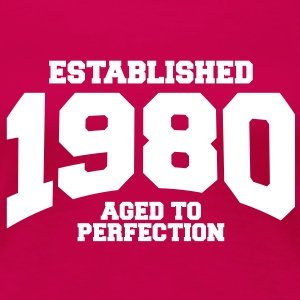 aged to perfection established 1980 (sv) T-shirts - Premium-T-shirt dam