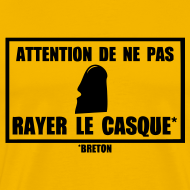 Motif ~ Tshirt attention de ne pas rayer le casque breton