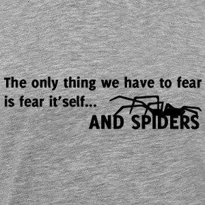 Spider / The only thing we have to fear is fear itself Camisetas - Camiseta premium hombre